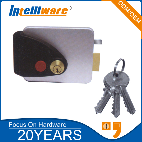 Euro Style Electronic Rim Lock For Apartment Door