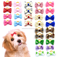 Colors Lovely Bowknot Hair Bows Pet Collar Dog Accessory