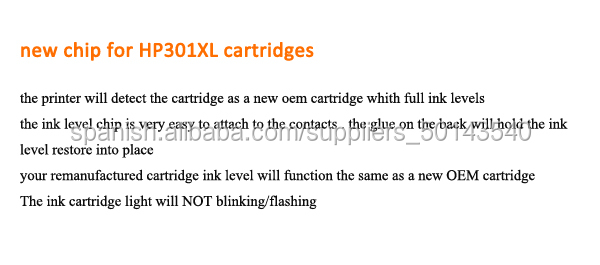printer ink cartridge high margin products refillable ink cartridge auto reset chip for hp 301