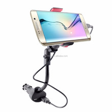 dual usb car charger phone holder mount for smartphones, mp3 mp4 GPS