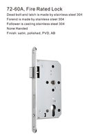 72-60A Fire Rated Lock European Mortise Locks
