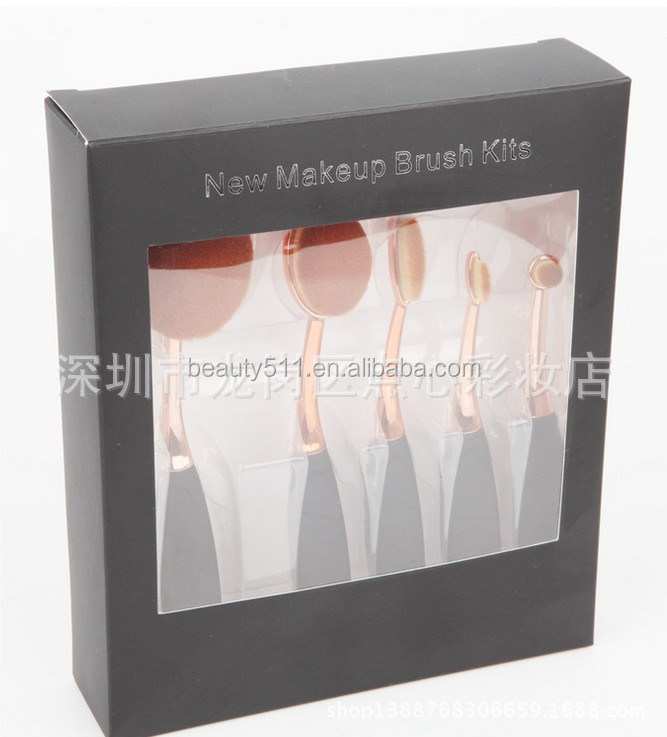 5 toothbrush makeup brush 246810 black rose gold 5 toothbrush makeup brush set