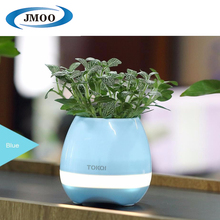 Smart 4 in 1 LED Light Music Flower Pot with Music Playing Function Piano on Real Plant Flowerpot
