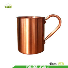 Single wall 100% pure copper mug with handle
