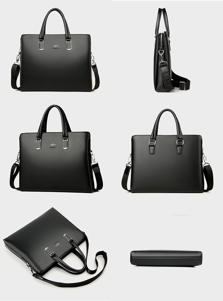 Fashion Business Casual Waterproof PU leather Handbag Crossbody Shoulder Men Laptop bag Briefcase