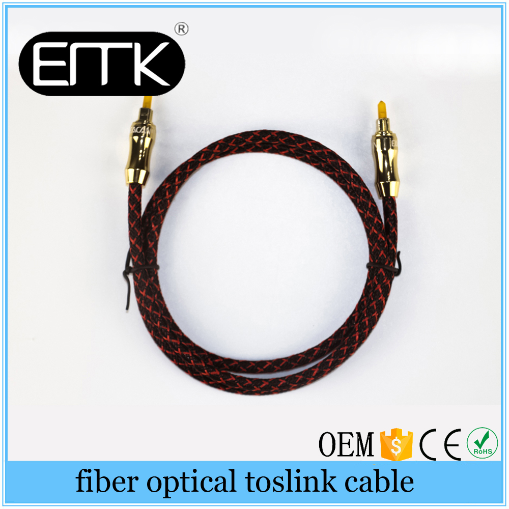 Digital Optical audio cable Toslink gold plated 1m 2m 3m SPDIF coaxial cable for Blu-ray CD DVD player AV