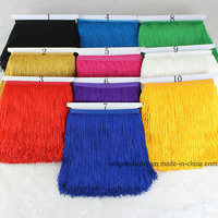Wholesale 20CM Polyester Double Thread Fringe Tassel Trim for Dress Decoration