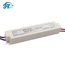 170V - 250V Input DC 12V Output 12W -Plastic shell IP67 led power supply with over-voltage protection for led module