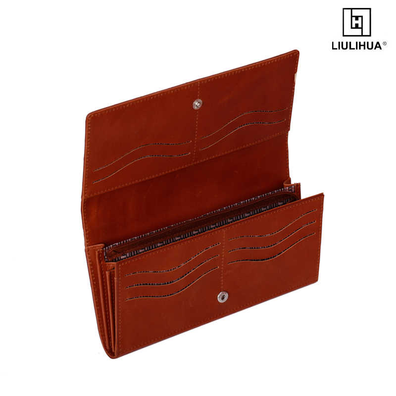 LIULIHUA Mens Genuine crocodile Leather Fashion Wallet durable man leather money clip long wallets