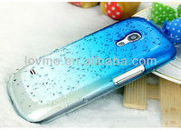 crystal clear 3d rain drop case for samsung s4 active