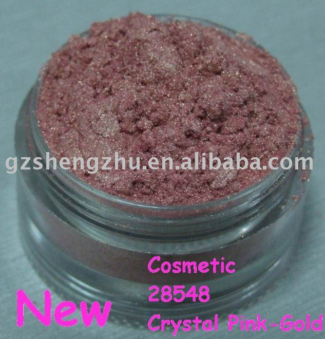 cosmetic Pink-Gold mica powder