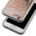 C&T Clear TPU Bumper+Gold Stamp Hard PC Back Cover Protective Hard Case for iPhone 6S/6