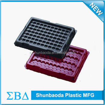 Customized Antistatic esd tray black anti-static blister packaging