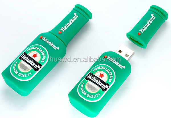 Unique design gift OEM PVC bottle usb flash stick for promotion