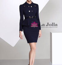 Ladies office wear dresses uniform double-breasted designs dress women office uniform dresses