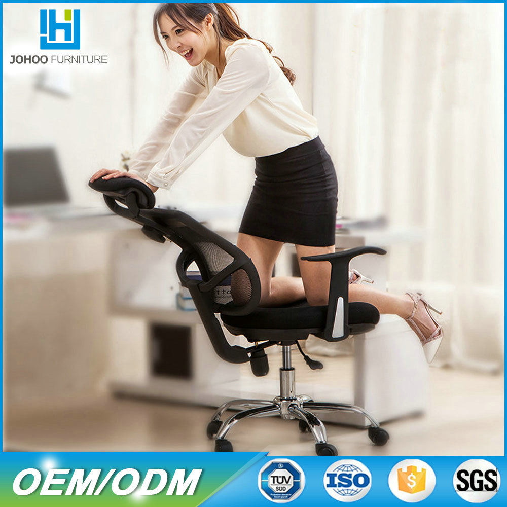 In stock hot sale mid-back swivel officechair orange best sex positions relax chair