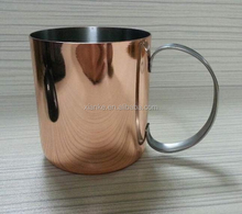 Good quality 12oz stainless steel beer cup single wall copper metal cup