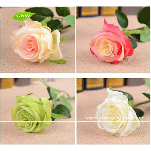 FLS02 GNW large artificial flower heads decorative wedding rose flower for wedding wall stage decoration