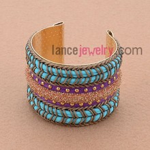 New Style Nice Cord And Sequins Deocrated Palm Cuff Bracelet Bangle Making Machine