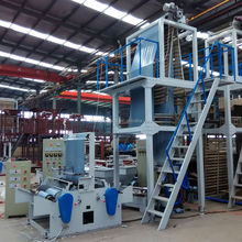 High Speed Automatic Roll changing Plastic PE film blown extrusion machine price for plastic bag making