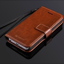 Business men style wallet flip cover leather case for iphone 5c