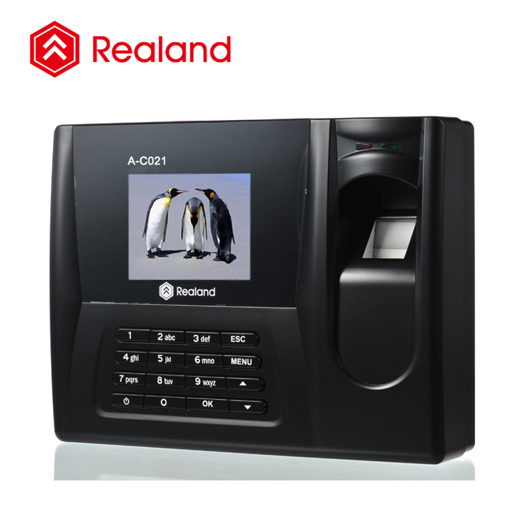 Biometric programmable time attendance with TCP/IP/Fingerprint scanner and RFID card reader Realand A-C021