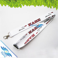 popular style sublimation polyester lanyards with sliver thumb hook for company activity