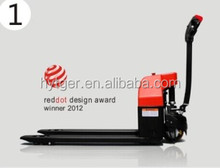 reddot design award winner 2012 1.3ton battery pallet truck,small electric pallet truck / American Curtis control system