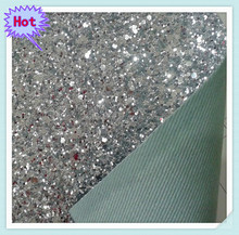 shiny artificial leather&glitter leather fabric