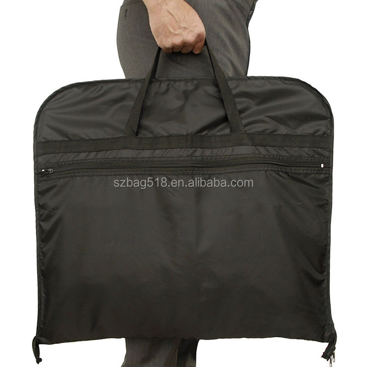 wholosale lightweight folding travel carry suit caover zip lock garment bag