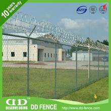Plastic vinyl coated black chain link fence with CE certificate