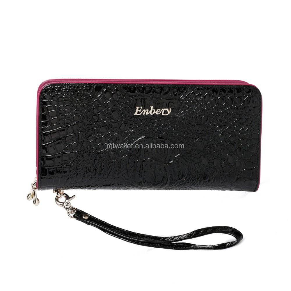 womens Double zipper wrist wallet