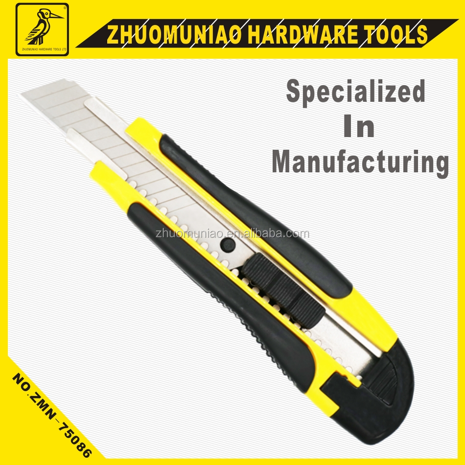 Utility Knife 18mm Cutter Tools Safety for Cutting Sharper Efficient
