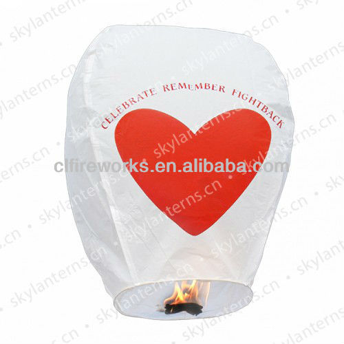 CE Passeed Heart Remember Paper Sky lantern