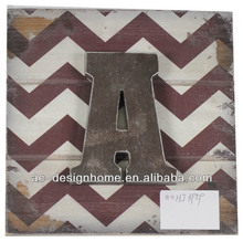 "RUSTY/CHOCOLATE ""A"" WOODEN LETTER WALL DECORATION"