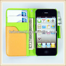 Factory Price Hot selling wallet phone case stand pouch for iphone 5