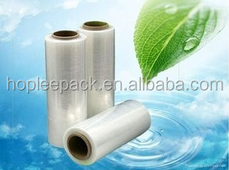 Self-adhesive clear plastic stretch film
