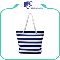Wholesale extra large rope handle canvas beach bags