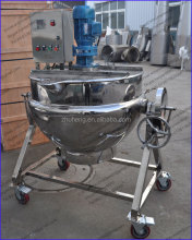 tilting electric heating jacketed kettle / boiler electric heating hot sale electric jacketed cooking mixer machine