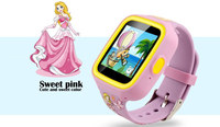 2.5D Capacitive Big Touch Screen gps tracking system kids cell phone smart watch