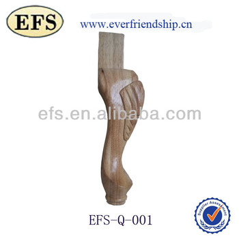 Cheap wholesale solid wood carved queen anne chair legs