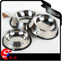 Durable Rubber Base Stainless Steel Dog Bowls / Pet Bowls / Pet Feeder