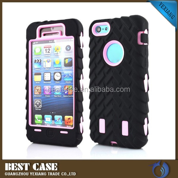colorful 3 in 1 robot case for iphone 5 5g full coverage protector cover back