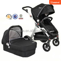 Hot Design good quality best seller europe style Baby stroller 3 in 1 with Carry Cot