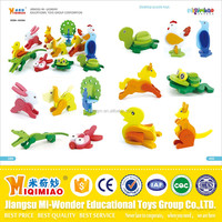 Newly designed 3D wooden animal puzzle toys for children