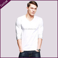 cotton t-shirts men white v neck t- shirt tee shirt
