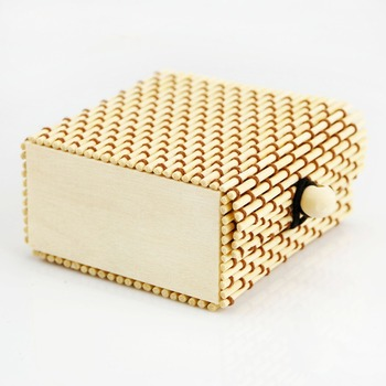 100% nature bamboo hand making bamboo tea box present container box
