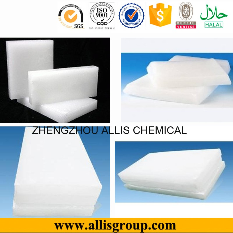 Free sample chemicals refined slack solid form density of wax paraffin