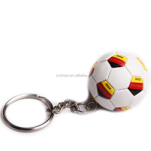 2017 games PVC soccer keychain, Germany flag football keyring