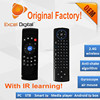 2016 newest air mouse with IR Learning Full QWERTY C2 air mouse mini wireless keyboard universal remote controller C2